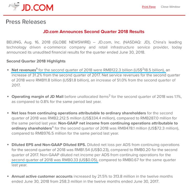 jd com 株価